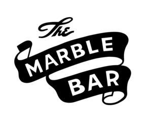 The Marble Bar text on a banner